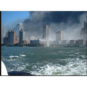 This was the scene I saw when we were on the boat. * Picture owned by NY Police Dept