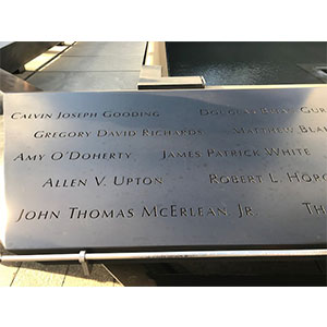The 9/11 memorial lists Jim and Amy's names together.