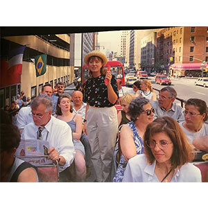 This picture was taken in 1996. I took many tour groups to the WTC complex & into the Twin Towers for several years before and after the attacks in 2001. *Photo by Manuel Bruges